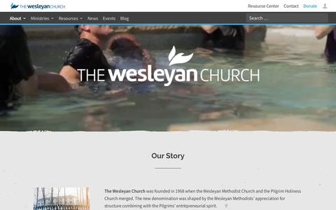 Screenshot of About Page wesleyan.org - About - The Wesleyan Church - captured July 12, 2018