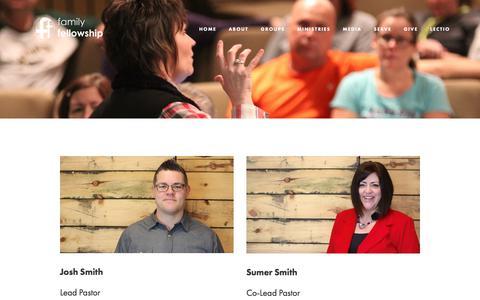 Screenshot of Team Page familyfellowship.net - Leadership — Family Fellowship - captured Oct. 8, 2017