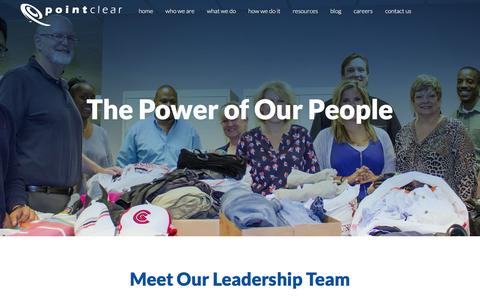 Screenshot of Team Page pointclear.com - Leadership Team | PointClear, LLC - captured Dec. 10, 2015