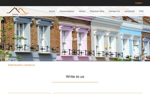 Screenshot of Contact Page estatestudent.com captured July 20, 2018
