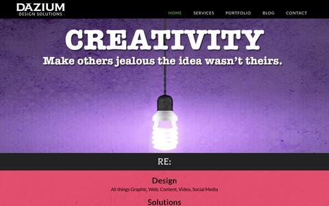 Screenshot of About Page dazium.com - Dazium Design Solutions - captured Sept. 30, 2014