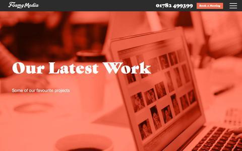Screenshot of Case Studies Page foamymedia.com - Website Design & Online Marketing Case Studies - Foamy Media™ - captured Oct. 14, 2017