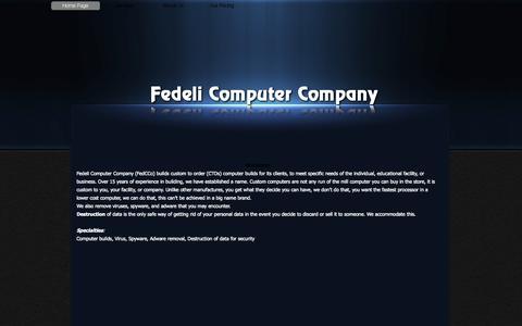 Screenshot of Home Page fedcco.com - Fedeli Computer Company - captured Oct. 5, 2014