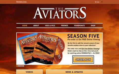 Screenshot of Home Page theaviators.tv - The Aviators TV - captured Oct. 7, 2014
