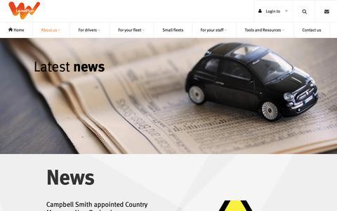 Screenshot of Press Page leaseplan.com.au - News | LeasePlan - captured Oct. 25, 2018