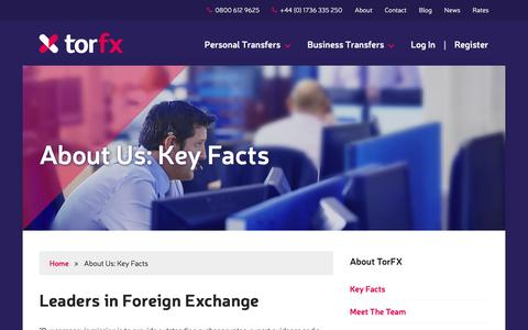 Screenshot of About Page torfx.com - Leaders in Foreign Exchange | Currency Brokers | TorFX - captured Feb. 19, 2016