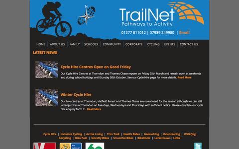 Screenshot of Press Page trailnet.org.uk - Latest News from TrailNet Community Interest Company - captured Feb. 27, 2016