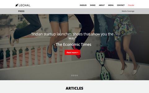 Screenshot of Press Page lechal.com - Lechal - captured Nov. 4, 2014