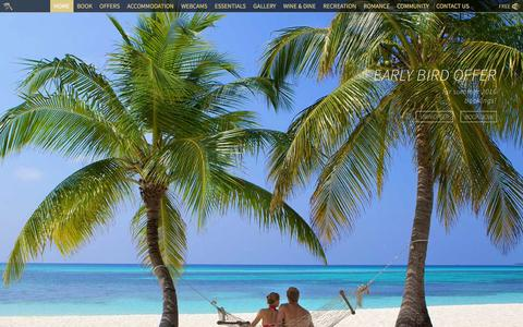 Screenshot of Home Page kuredu.com - Maldives Resorts - Kuredu is a top rated and popular resort - captured Feb. 12, 2016