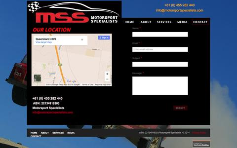 Screenshot of Privacy Page Contact Page motorsportspecialists.com - Motorsport Specialists - Contact - captured Feb. 28, 2016