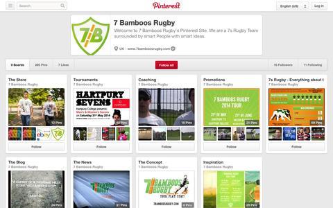 Screenshot of Pinterest Page pinterest.com - 7 Bamboos Rugby on Pinterest - captured Oct. 26, 2014