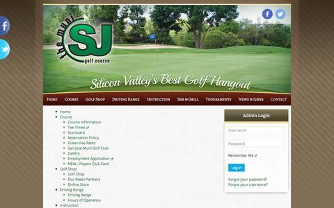 Screenshot of Site Map Page sjmuni.com - Site Map   San Jose Municipal Golf Course - captured Oct. 4, 2017