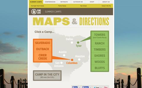Screenshot of Maps & Directions Page pinecove.com - Pine Cove - Maps - captured Sept. 19, 2014