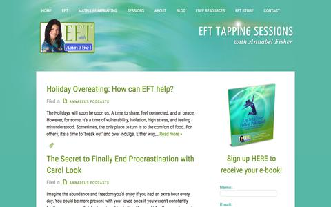 Screenshot of Blog efttappingsessions.com - EFT Healing Centre - Tapping Sessions with Annabel Fisher - captured Jan. 30, 2018