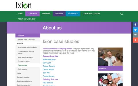 Screenshot of Case Studies Page ixionholdings.com - Case Studies - Ixion Holdings - captured Oct. 15, 2017