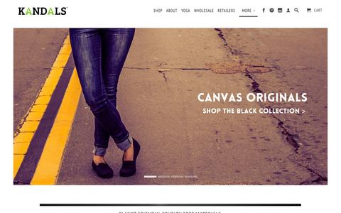 Screenshot of Home Page kandals.com - KANDALS - Vegan & Sustainable Footwear - captured Oct. 6, 2014