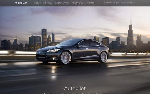 Screenshot of Home Page teslamotors.com - Tesla Motors | Premium Electric Vehicles - captured Jan. 26, 2016