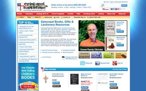 Screenshot of Menu Page episcopalbookstore.com - Episcopal Bookstore - Books, Gifts, Book Of Common Prayer - captured July 14, 2016