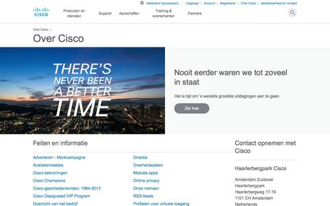 Screenshot of About Page cisco.com - Over Cisco - Cisco - captured March 25, 2017