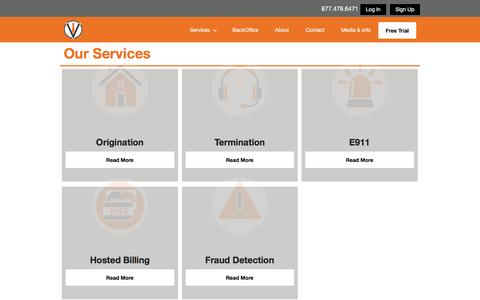 Screenshot of Services Page voipinnovations.com captured March 16, 2016