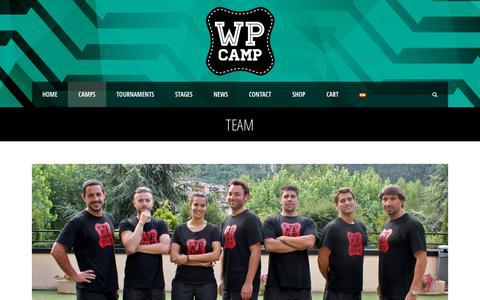 Screenshot of Team Page wp-camp.com - WP CAMP  Team - WP CAMP - captured Nov. 22, 2018
