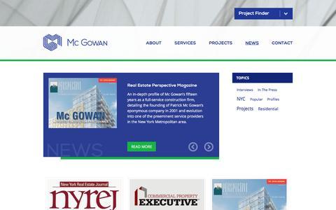 Screenshot of Press Page mcgowanbuilders.com - News   Mc Gowan   Construction Management & General Contractor - captured Nov. 28, 2016