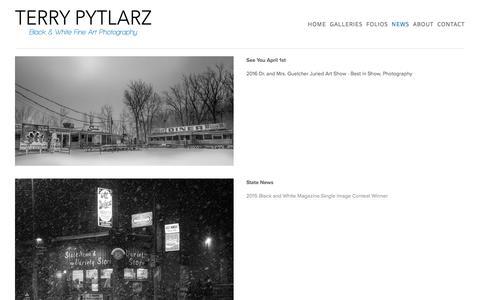 Screenshot of Press Page terrypytlarz.com - News — Terry Pytlarz fine art photography - captured Dec. 2, 2016