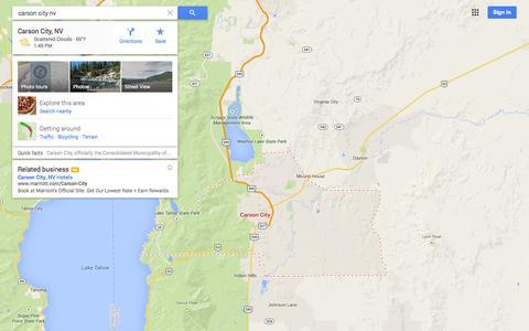 Screenshot of Maps & Directions Page google.com - Google Maps - captured Oct. 31, 2014