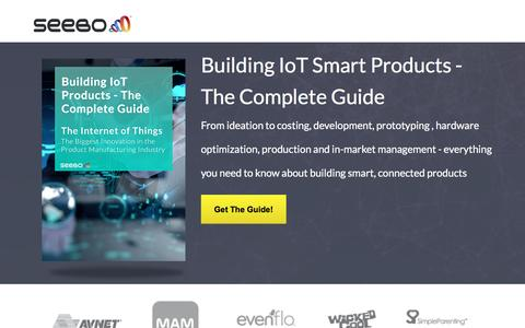 Screenshot of Landing Page seebo.com - The Ultimate Guide to Building IoT Products - captured June 22, 2016
