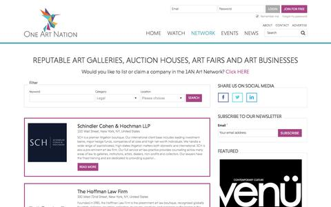 Screenshot of Terms Page oneartnation.com - All Entries : Online Art Education for Collectors & Professionals: One Art Nation - captured Sept. 21, 2018