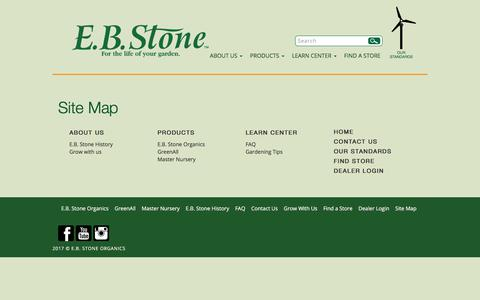 Screenshot of Site Map Page ebstone.org - Site Map – E.B. Stone Organics E.B. Stone Organics - captured July 7, 2017
