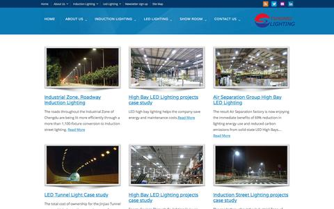 Screenshot of Case Studies Page ecolvd.com - Case studies - Induction lamps | Induction Lighting Professional Solutions - captured July 19, 2016