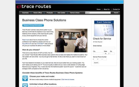 Screenshot of About Page tracerts.com - Business Class Phone Solutions - Trace Routes - captured Feb. 16, 2016