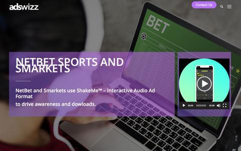 Screenshot of Case Studies Page adswizz.com - NetBet and Smarkets Case Study - Adswizz - captured Aug. 7, 2019