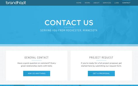 Screenshot of Contact Page brandhoot.com - Contact Us | BrandHoot - captured June 2, 2017