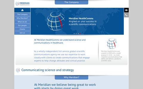 Screenshot of Home Page meridian-health.com - Meridian HealthComms - captured Oct. 8, 2014