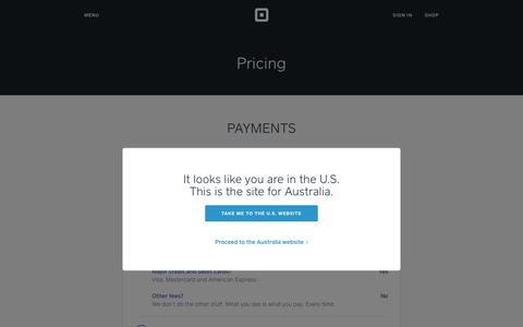 Screenshot of Pricing Page squareup.com - Low Fee Credit Card Processing - Square Pricing - captured July 26, 2017