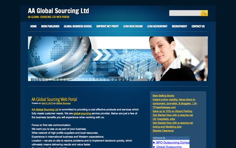 Screenshot of Blog aaglobalsourcing.com - Blog | AA Global Sourcing Ltd - captured Oct. 4, 2014