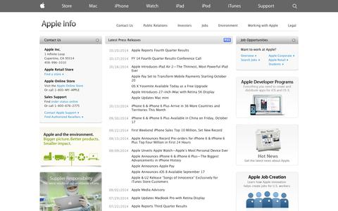 Screenshot of About Page apple.com - Apple - Apple Info - captured Oct. 27, 2014