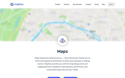 Screenshot of Maps & Directions Page mapbox.com - Maps | Mapbox - captured Dec. 24, 2018