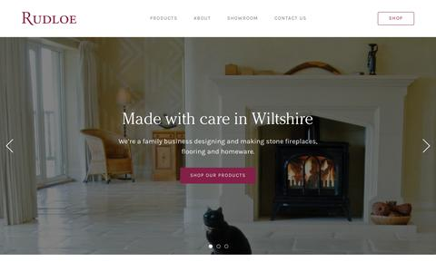 Screenshot of Home Page rudloe-stone.com - Rudloe | Cast and natural stone fireplaces and flooring made in Wiltshire - captured Oct. 23, 2017