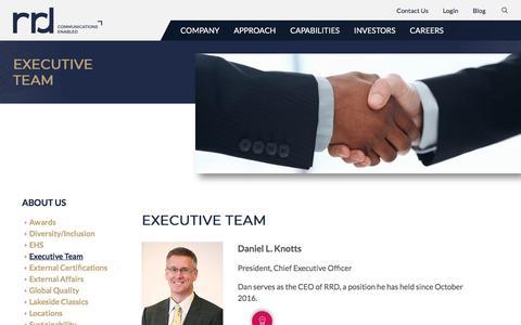 Screenshot of Team Page rrdonnelley.com - RR Donnelley Executive Team - captured Dec. 1, 2017