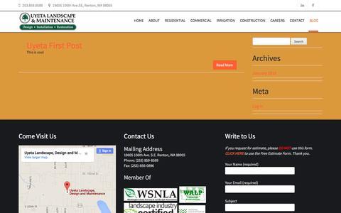 Screenshot of Blog uyetalandscape.com - Blog   Uyeta Landscape & Maintenance - captured Feb. 26, 2016