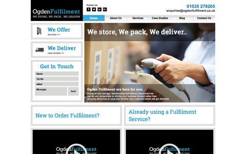 Screenshot of Home Page ogdenfulfilment.co.uk - UK and International Fulfilment Services - captured Nov. 1, 2017