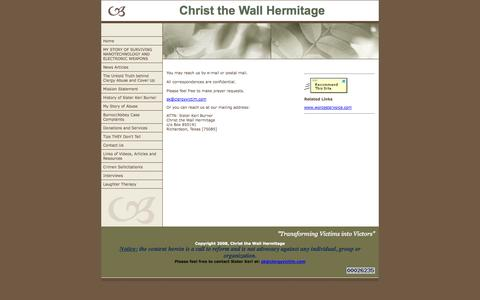 Screenshot of Contact Page clergyvictim.com - Contact Us - captured Oct. 8, 2014