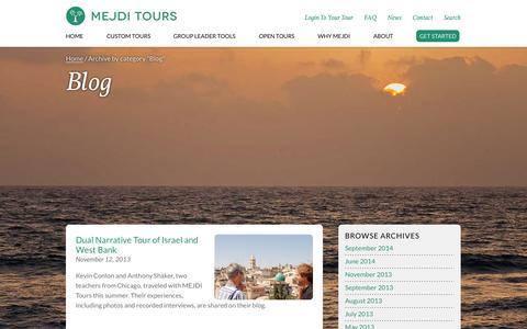 Screenshot of Blog mejditours.com - Blog  |  MEJDI Tours - captured Sept. 30, 2014