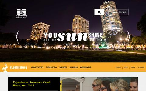 Screenshot of Home Page stpete.org - Welcome to City of St. Petersburg - captured Oct. 1, 2015