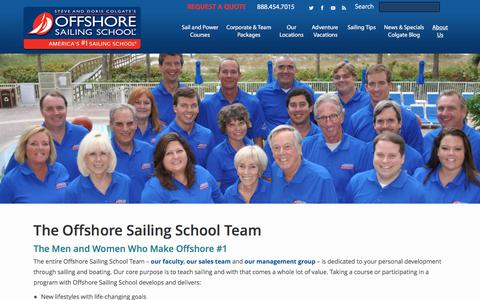 Screenshot of Team Page offshoresailing.com - The Offshore Sailing School Team - captured June 12, 2017