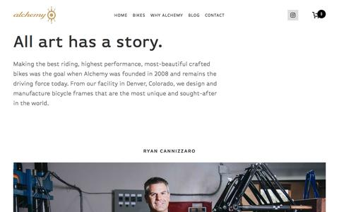 Screenshot of About Page alchemybicycles.com - The Alchemy Bicycles Story | Alchemy Bicycles - captured July 6, 2018
