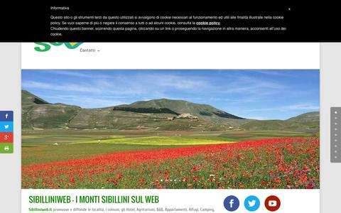 Screenshot of Home Page sibilliniweb.it - SibilliniWeb - Il Portale Turistico del Parco Monti Sibillini - captured Sept. 20, 2015